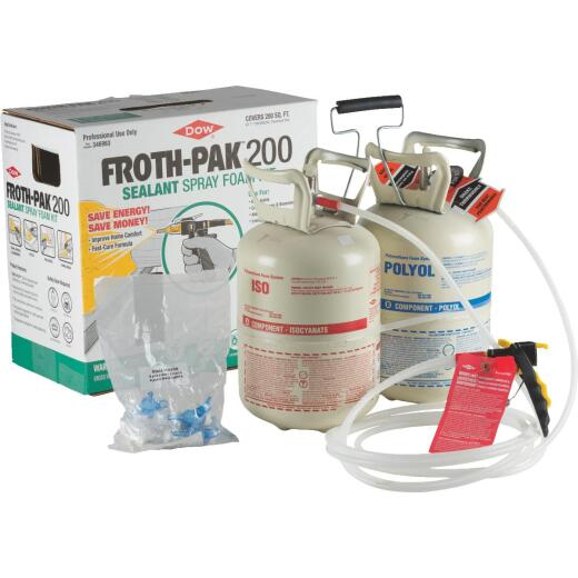 FROTH-PAK 200 Two-Component Polyurethane Foam Sealant Kit