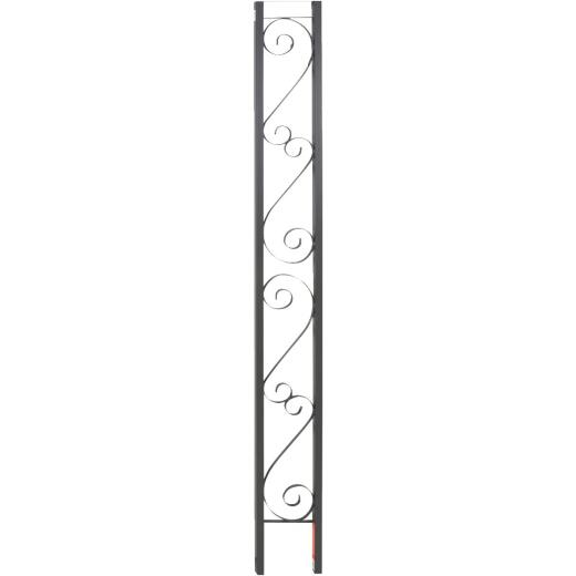 Gilpin Windsor 10-1/2 In. x 8 Ft. Wrought Iron Railing Flat Iron Ornamental Column