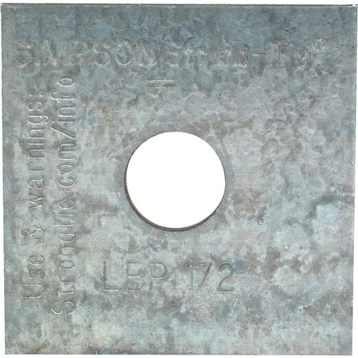 Simpson Strong-Tie 1/2 in. x 2 in. x 9/64 in. Steel Galvanized Bearing Plate