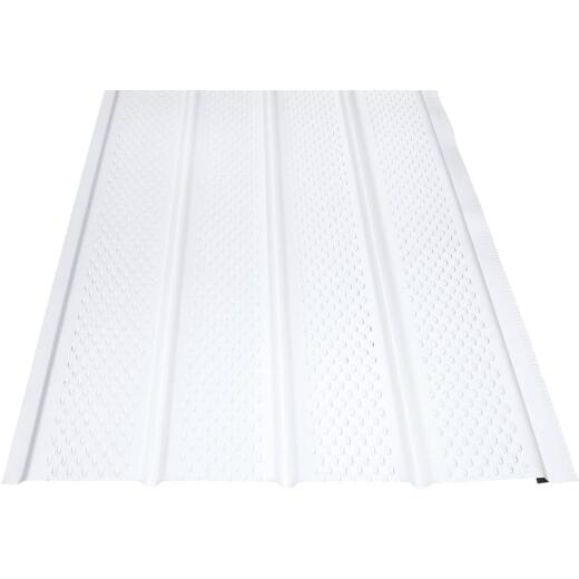 Klauer 16 In. White Fully Vented Aluminum Soffit