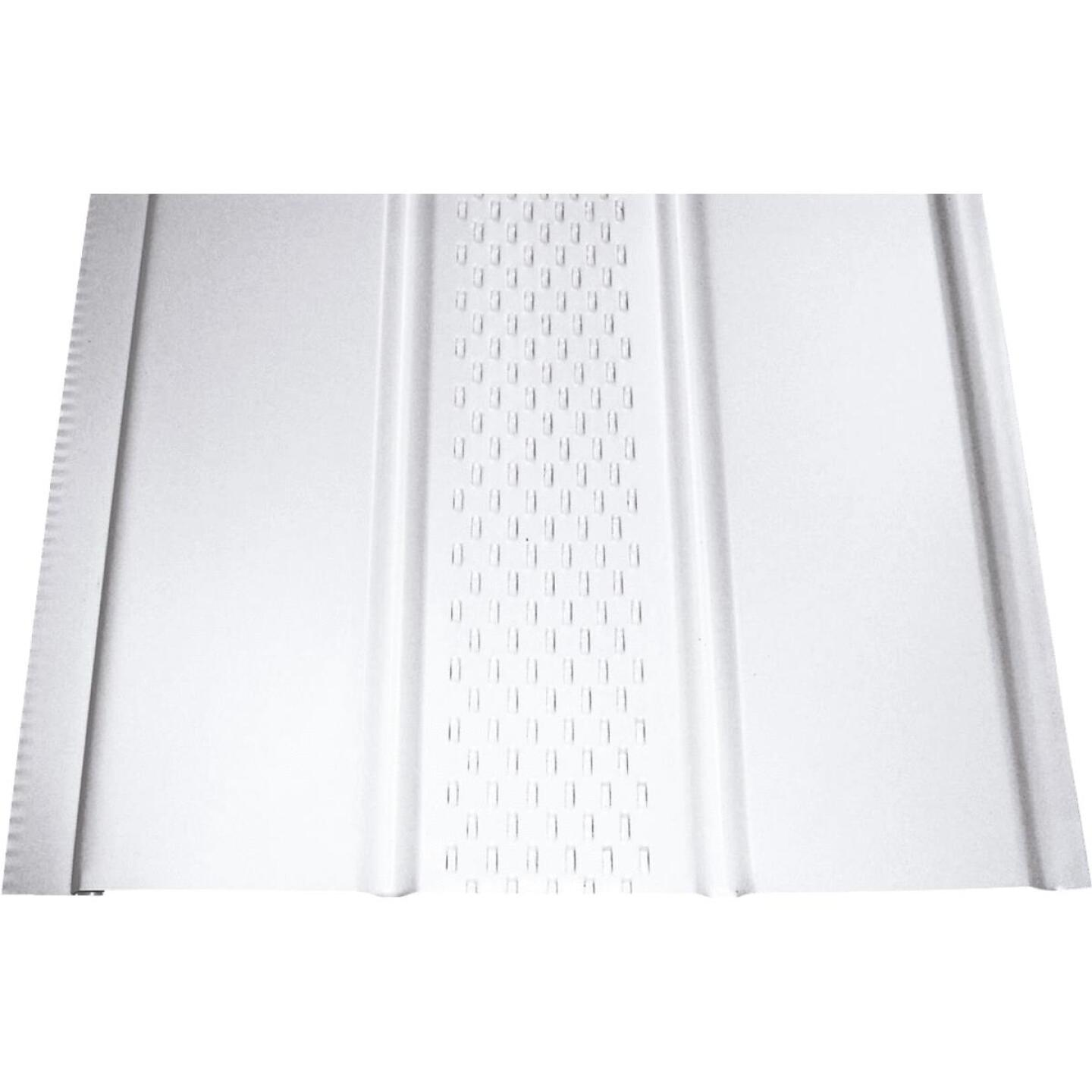 Klauer 12 In. White Center Vented Aluminum Soffit Image 1