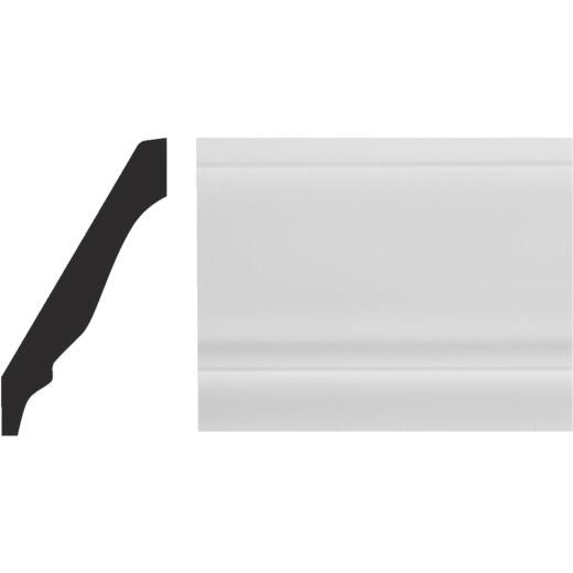 Royal 9/16 In. W. x 3-5/8 In. H. x 12 Ft. L. White PVC Colonial Crown Molding