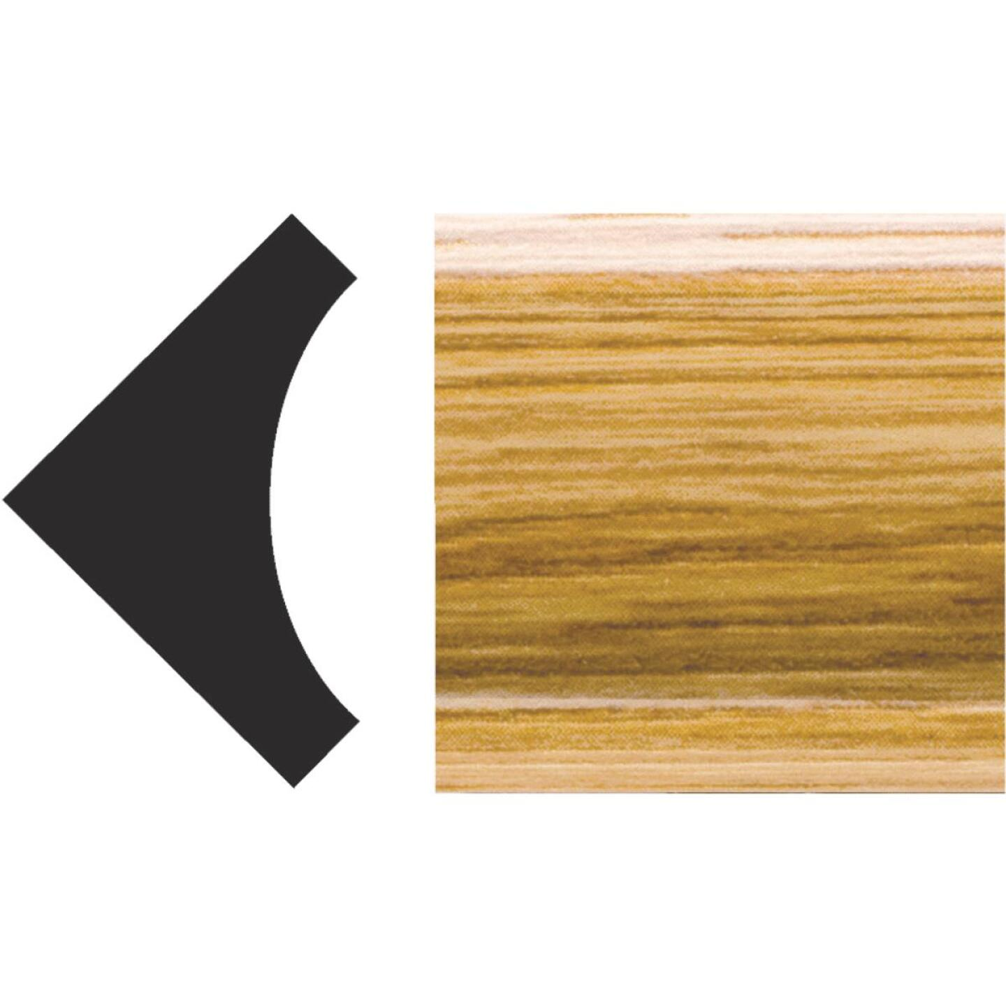 Royal 3/4 In. x 3/4 In. x 8 Ft. Imperial Oak PVC Interior Inside Corner Molding Image 1