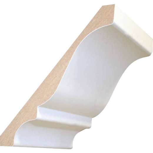 Cedar Creek L45 19/32 In. W. x 5-1/4 In. H. x 8 Ft. L. White Primed MDF Crown Molding