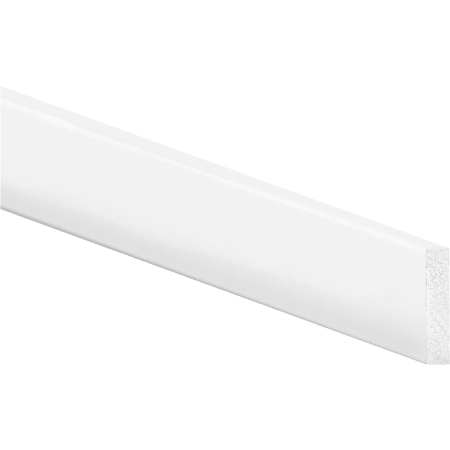 Inteplast Building Products 2-1/2 In. x 8 Ft. Crystal White Polystyrene Flat Molding Image 1