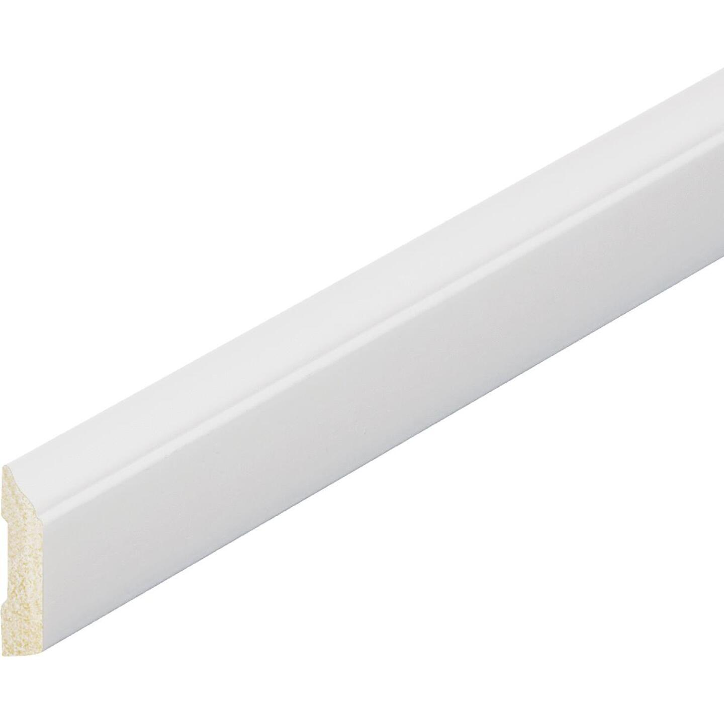 Inteplast Building Products 3/8 In. W. x 1-5/16 In. H. x 7 Ft. L. Crystal White Polystyrene Stop Molding Image 3