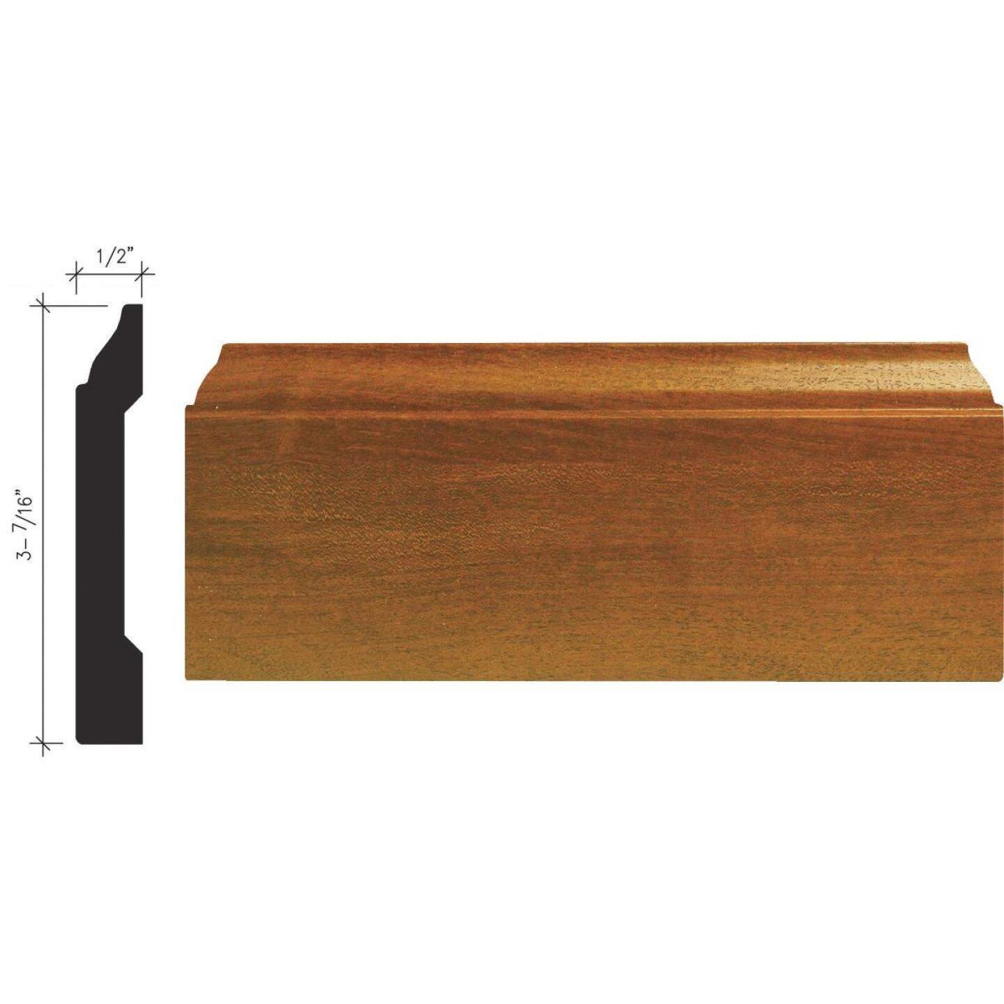 Inteplast Building Products 1/2 In. W. x 3-7/16 In. H. x 8 Ft. L. Independence Cherry Polystyrene Colonial Base Molding Image 1