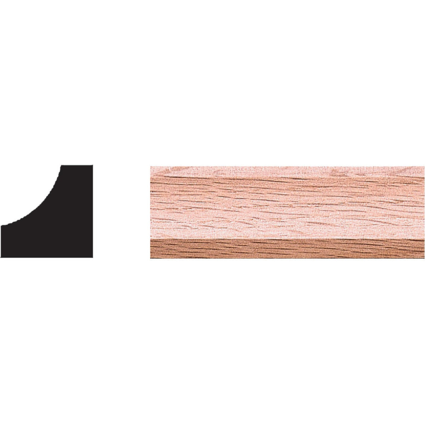 House of Fara 3/4 In. x 3/4 In. 8 Ft. Solid Red Oak Cove Molding Image 1