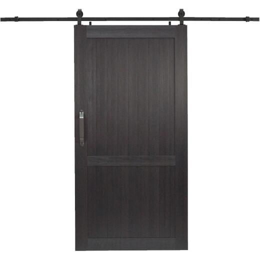 Millbrooke 42 In. x 84 In. x 1.3 In. H-Style Black PVC Barn Door Kit