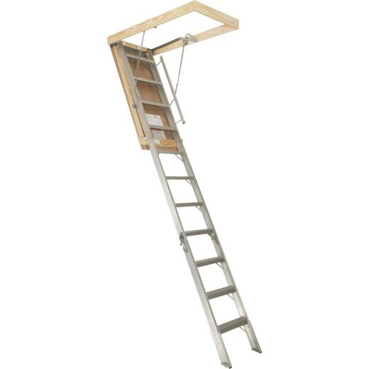 Louisville Elite 7 Ft. 8 In. to 10 Ft. 3 In. 25-1/2 In. x 54 In. Aluminum Attic Stairs, 375 Lb. Load