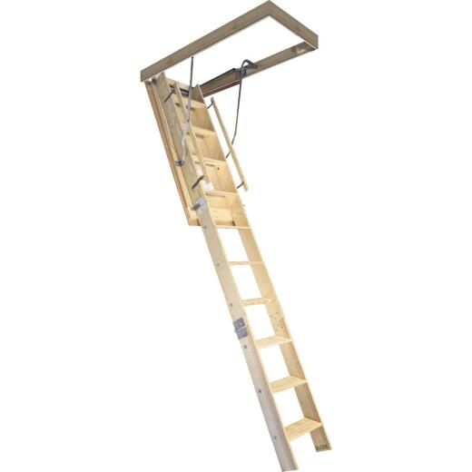 Louisville Big Boy 8 Ft. 9 In. to 10 Ft. 30 In. x 60 In. Wood Attic Stairs, 350 Lb. Load