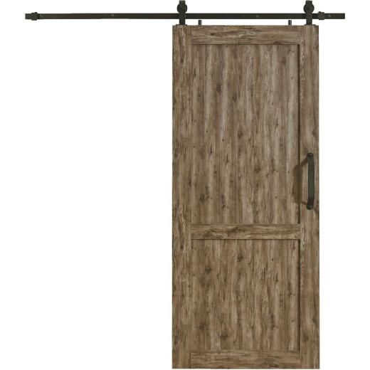 Millbrooke 42 In. x 84 In. x 1.3 In. H-Style Weathered Gray PVC Barn Door Kit