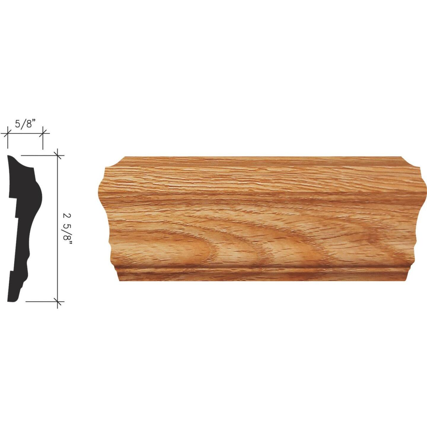 Inteplast Building Products 5/8 In. x 2-5/8 In. x 8 Ft. Majestic Oak Polystyrene Chair Rail Molding Image 1