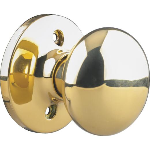 Steel Pro Polished Brass Dummy Door Knob
