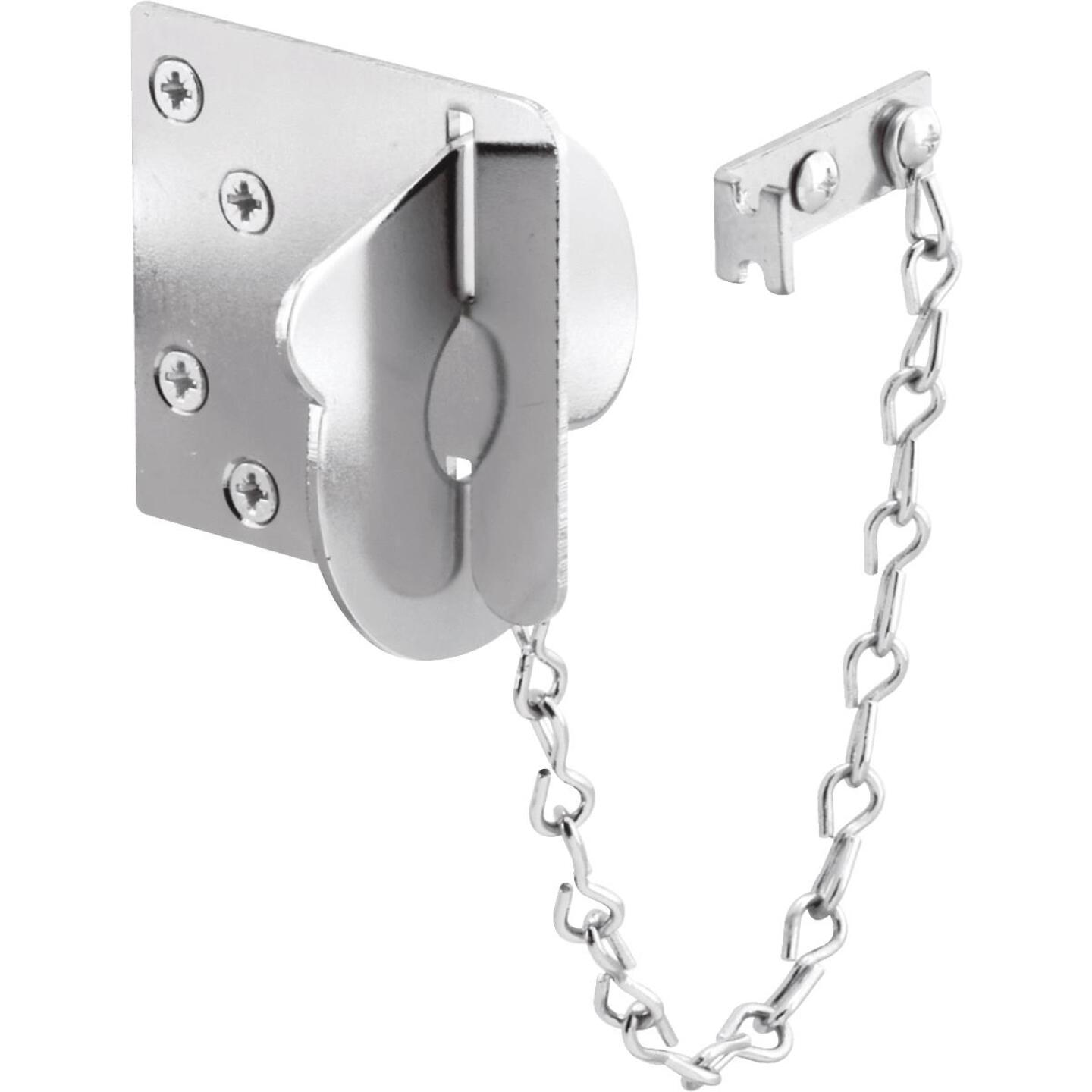 Defender Security Chrome Texas Security Bolt Ring Chain Door Lock Image 1
