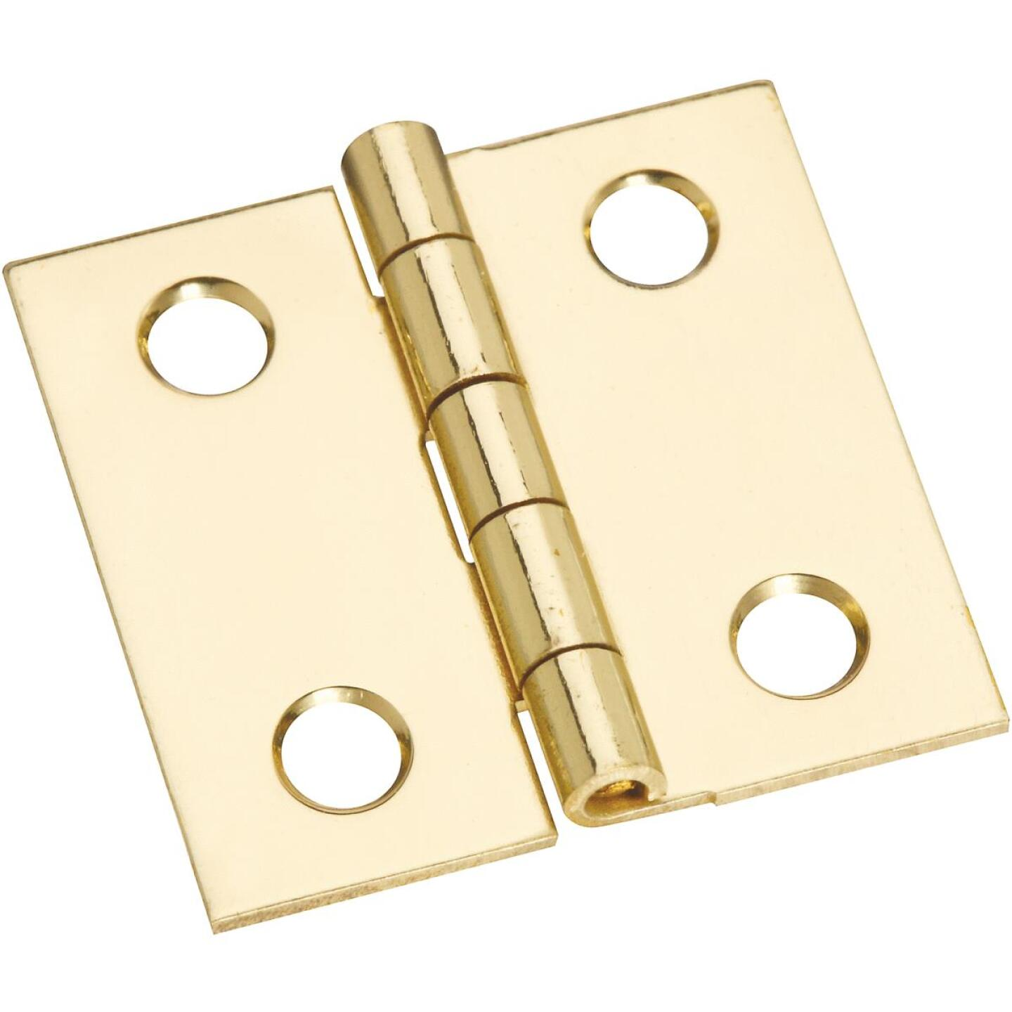 National 1 In. x 1 In. Brass Medium Decorative Hinge (4-Pack) Image 1