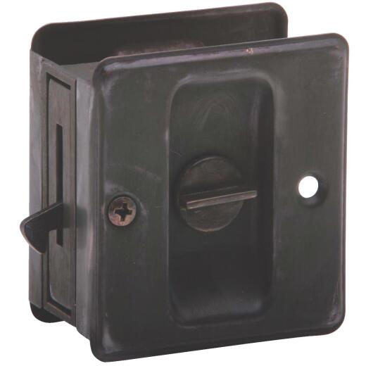 Schlage Privacy Aged Bronze Pocket Door Lock Pull