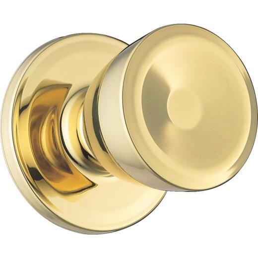 Weiser Polished Brass Beverly Dummy Door Knob