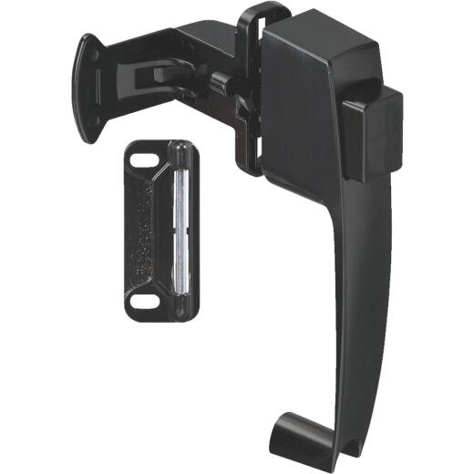National Black Push Button Latch