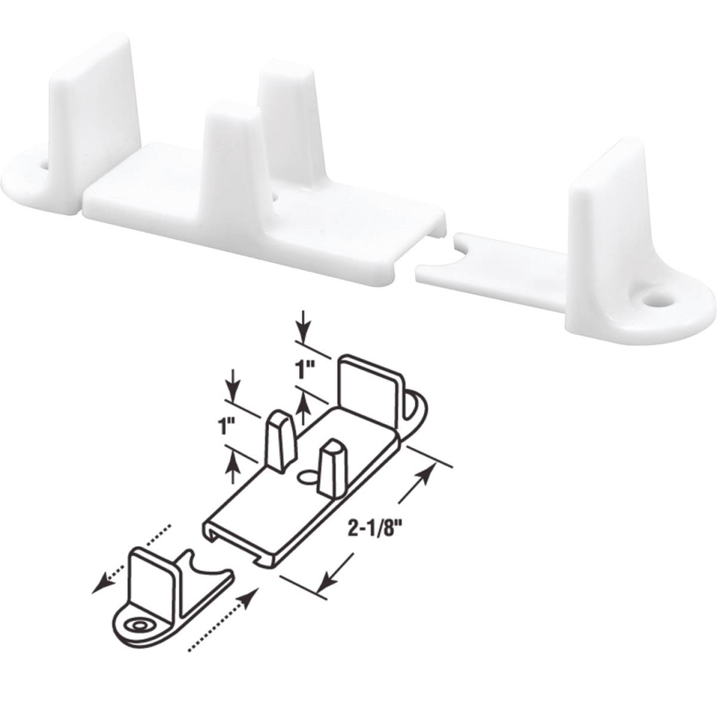 Prime-Line 1 In. Adjustable Nylon Base Bypass Door Bottom Guide (2 Count) Image 1