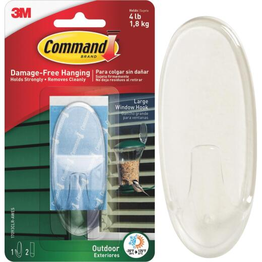 Command Large Adhesive Outdoor Window Hook
