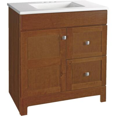 Continental Cabinets Allenton Auburn 30-1/2 In. W x 34-1/2 In. H x 19 In. D Vanity with Cultured Marble Top