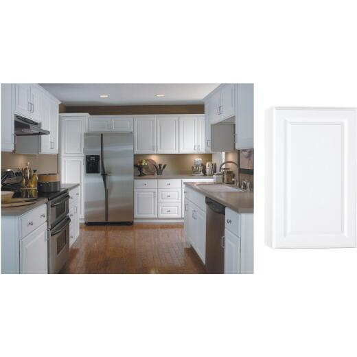 Continental Cabinets Hamilton 18 In. W x 30 In. H x 12 In. D Satin White Maple Wall Kitchen Cabinet