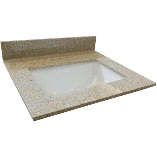 Design House 31 In. W x 22 In. D Golden Sand Granite Vanity Top with Rectangular Bowl