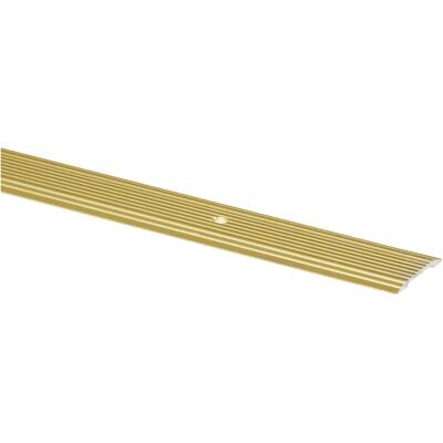 M-D Brass Satin 1-1/4 In. x 6 Ft. Aluminum Seam Binder