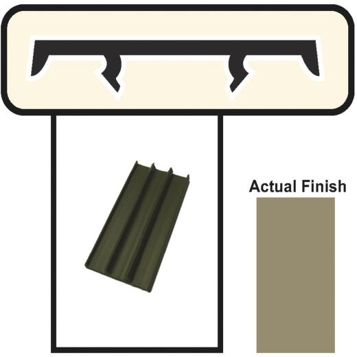 Screen-Tight 1-1/2 In. W. x 8 Ft. L. Brown Vinyl Cap Component