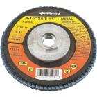 Forney 4-1/2 In. x 5/8 In.-11 60-Grit Type 29 Blue Zirconia Angle Grinder Flap Disc Image 1