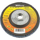 Forney 4-1/2 In. x 5/8 In.-11 80-Grit Type 29 Blue Zirconia Angle Grinder Flap Disc Image 1