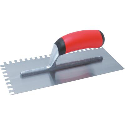 QLT 1/4 x 3/8 x 1/4 In. Square Notched Trowel w/Soft Grip