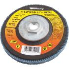 Forney 4-1/2 In. x 5/8 In.-11 80-Grit Type 29 High Density Blue Zirconia Angle Grinder Flap Disc Image 1