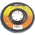 Forney 4-1/2 In. x 7/8 In. 80-Grit Type 29 Blue Zirconia Angle Grinder Flap Disc Image 1