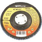 Forney 4 In. x 5/8 In. 60-Grit Type 29 Blue Zirconia Angle Grinder Flap Disc Image 1