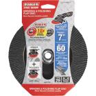 Diablo 7 In. x 5/8 In.-11 60-Grit Type 29 Steel Demon Angle Grinder Flap Disc with Hub Image 1