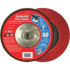 Diablo 7 In. x 5/8 In.-11 60-Grit Type 29 Steel Demon Angle Grinder Flap Disc with Hub Image 2
