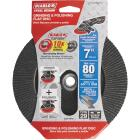 Diablo 7 In. x 5/8 In.-11 80-Grit Type 29 Steel Demon Angle Grinder Flap Disc with Hub Image 1