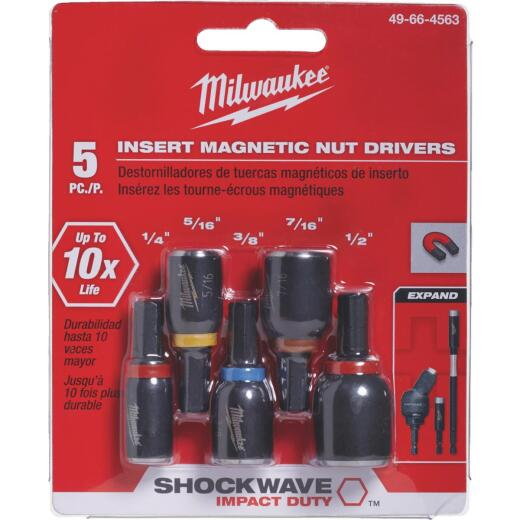 Milwaukee Shockwave 5-Piece Impact Magnetic Nutdriver Bit Set