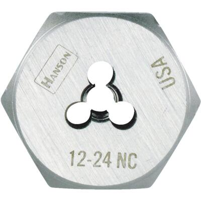 Irwin Hanson 12 In. - 24 NC Machine Screw Hex Die