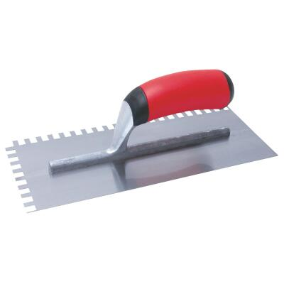 QLT 1/4 x 1/4 x 1/4 In. Square Notched Trowel w/Soft Grip