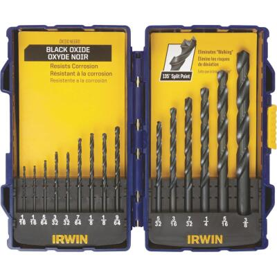 Irwin 15-Piece Black Oxide Drill Bit Set