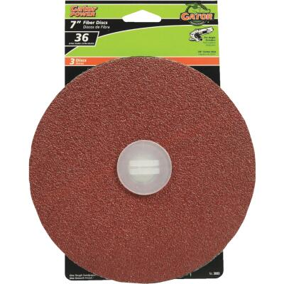 Gator 7 In. 36 Grit Fiber Disc (3-Pack)