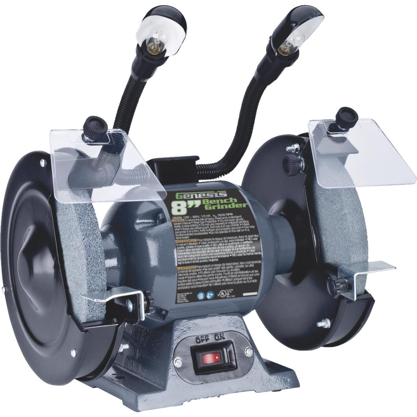 Genesis 8 In. 3/4 HP Bench Grinder with Lights Image 1