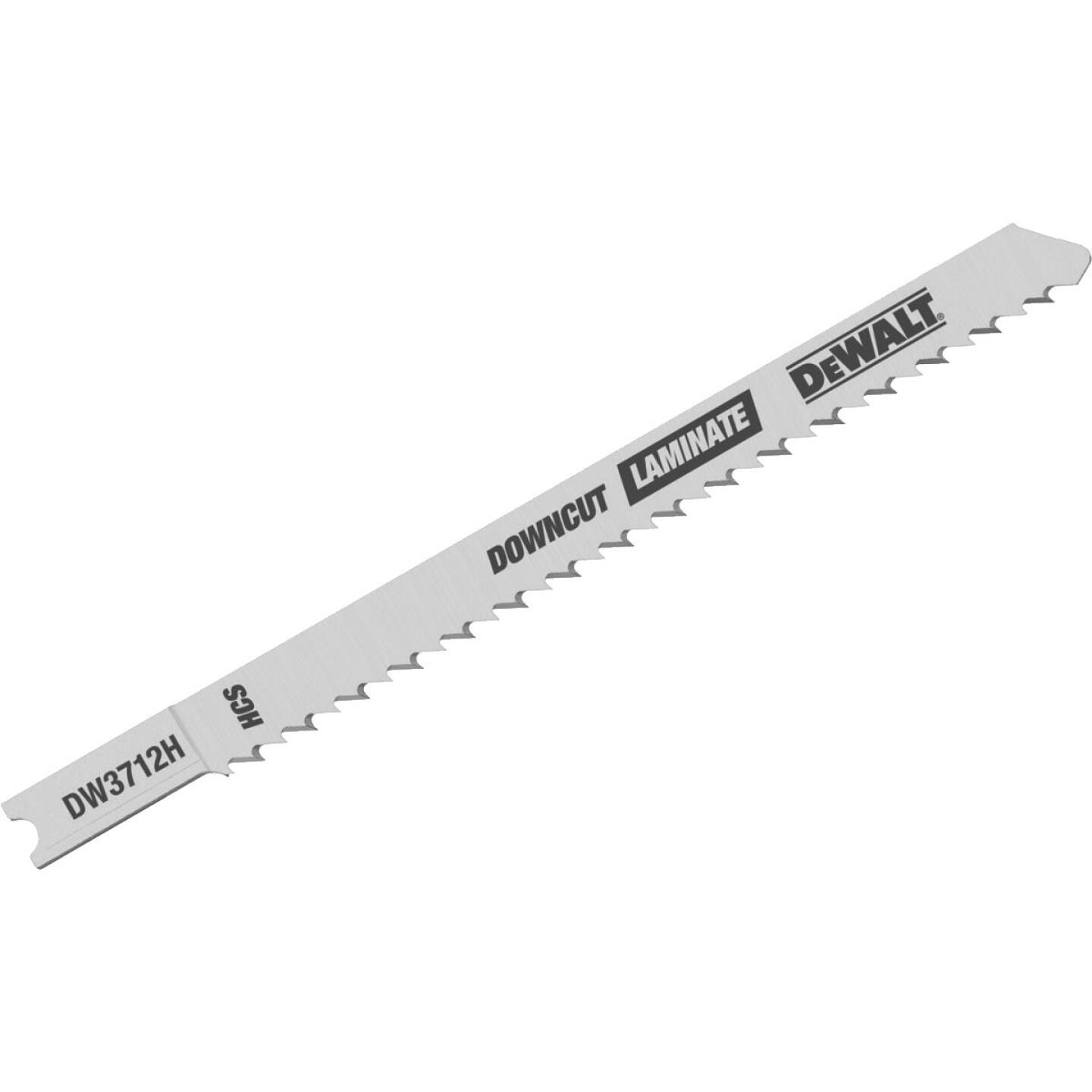 DeWalt U-Shank 4 In. x 10 TPI High Carbon Steel Jig Saw Blade, Downcut Laminate (5-Pack) Image 1