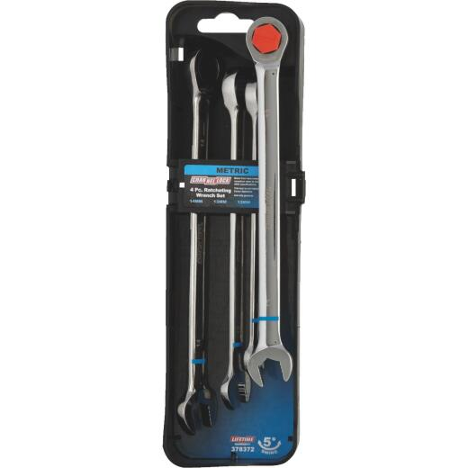 Channellock Metric 12-Point Ratcheting Combination Wrench Set (4-Piece)