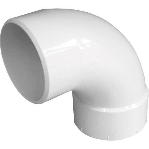 IPEX Canplas SDR 35 90 Degree 4 In. PVC Sewer and Drain Elbow Street (1/4 Bend)