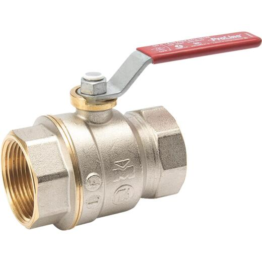 ProLine 1-1/4 In. FIP Forged Brass Full Port Ball Valve