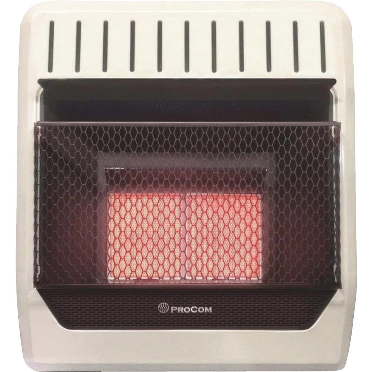 ProCom 18,000 / 20,000 BTU Natural Gas or Propane Gas Vent-Free Infrared Plaque Gas Wall Heater Image 1